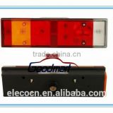 tail lamp with number plate 4 screw with plug LH e-mark 99463244 168420 Iveco truck body parts