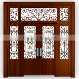 commercial double fancy exterior steel door Wrought iron security door wrought iron double entry doors
