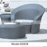 Single rattan/wicker swimming pool chair with ottoman swimming pools accessories