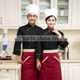 Black customized with good quality double breasted uniform chef