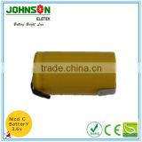 Hot sale ni-cd battery pack 3.6v 60mah with tap from Factory