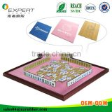 Big size sublimation printing natural rubber desk mat, poker and mahjong table mat top side anti slip