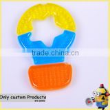 Baby Teether three months sensory chewable baby teether/customize injection bite baby teether manufacturer water injection toys