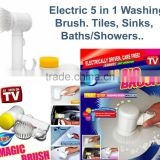 Best Household Scrubber for Bathtubs and Shower Electric Kitchen Bathroom Cleaning Brush