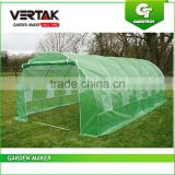 Garden poly tunnel greenhouse, galvanized steel greenhouse, walk-in tunnel greenhouse with 12 windows