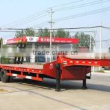 2 axles low bed truck trailer,double axle trailer,flatbed truck double axle trailer sale