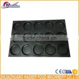 High quality non-stick teflon hamburger aluminum bakery trays 15 grooves loaf bread baking tray