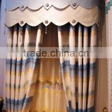 European Style Living Room Colourful Curtain/ Luxury Embroidery Curtains Fabric with Valance