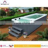 New design Balboa 2 zone Swim Pool Spa 7.5m Balboa Outdoor Endless Pool Spa for 10Persons