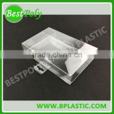 Clear plastic soap packaging boxes PVC box packaging clear box