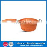 Soft Flexible Collapsible Silicone Colander For Kitchen Sink