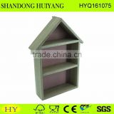 FSC house shape wooden rack for wall wholesale