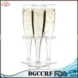 NBRSC Promotional Disposable hard Plastic champagne flutes party wine glasses cups