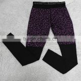 Black & Purple Women Sport Long Johns