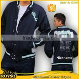 Customize Custom Made Youth Size Cheap American College Letterman Varsity Baseball High School Uniforms Men Winter Bomber Jacket