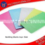 Plastic bricks big blocks toys buidling blocks slab toys blocks toys base plate OEM