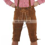 Leather shorts Authentic German Bavarian Oktoberfest Trachten Short Kurze (Bavaria Clothing)