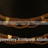 golden plated jewelry anklets exporter, golden plated jewellery anklet manufacturer