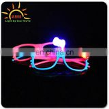2015 Fashion LED blinking light up bow tie sunglasses for Bar or party