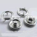 Hot sale silver metal prong snap button