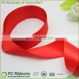 "1 1/2"" red double face satin ribbon wedding ribbon by yard"
