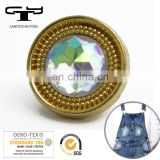 CTY-RO(54) clothing swivel jeans crystal zamak alloy metal buttons in China supplier