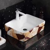 Dinning room ceramic rectangle colored made in china chaozhou single hole basin sink