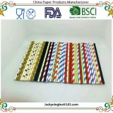 Different Colors and Designs Rainbow Stripe Dot Paper Drinking Straws Color Printed or Holo Gold Silver Foiled Both Can Be Customized
