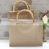 Customized Bamboo Handle Bag Jute Bag Manufacturer