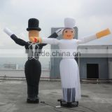 Wedding decorations Two legs inflatable air dancers with logo