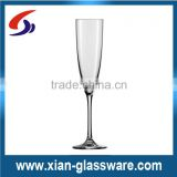 Promotional high quality clear wholesale champagne glasses/cheap champagne flutes/wedding champagne glass/long term wine glass