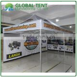 40mm Aluminum Fold Tent 10ft X 20 ft With All Metal Connectors, Custom Print Canopy& Valance,1 full wall & 1 half side wall