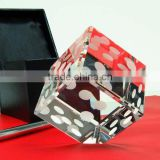 Clear crystal dice paperweight office usage paperweight crystal dice