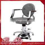 Grey Styling Beauty Salon Chair Armrest and Footrest Salon Hair Cutting Dressing Chair