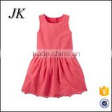 Wholesale Baby Girl Plain Dress Fashion Soft Girls Dresses For Little Baby Holiday Party Kids Wear Girl Dress