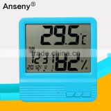 Lcd wired temperature & humidity Hygrometer alarm clock