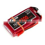 14.8v 1300mAh 75C racing Drone battery | LIPO Battery for FPV | XT60 connector HV lithium battery