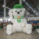 2014 accept customized advertising cartoon lovely bear inflatable mascot