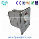 Game machine mechanical coin acceptor with timer board