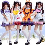 Cartoon anime sexy girls japanese maid dresses cosplay costume