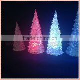 2015 Wholesale colorful ps led spiral christmas tree