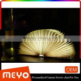 Custom Painting Creative Book Page Design Night Light Table Lamp                                                                         Quality Choice