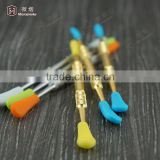 Titanium dabber tools/glass dabber tools with silicone tips For Wax Dry Herb For Oil Rigs