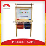 2015 Popular Wooden Cartoon Bear Easel with Chair, magnetic drawing board