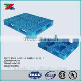 Stackable 1200*1000MM/ 1200*800MM/ 1100*1100MM Double Face Standard Size Recycle Plastic Pallet /