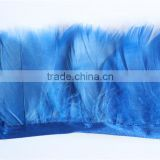 10Yards Blue Duck Feather Coque Trim Fringe For Women Dress