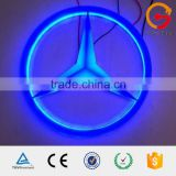 Polished finish plastic acrylic embossed benz logo with backlit led light                                                                                                         Supplier's Choice