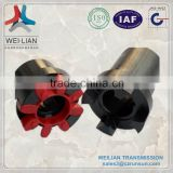 Flexible rubber couplings With Elastomer Spider Clamp gear coupling used in ice cream machine
