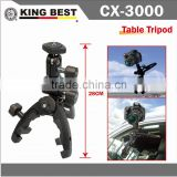KINGBEST CX-3000 Lightweight Universal Camera Multi-clamp Pod Tripod /metal clamp tripod / professional tripod /camera tripod