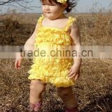 organic cotton wholesale lace petti baby rompers